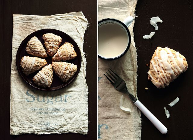 Coconut Scones. Want to try these.  Love coconut!