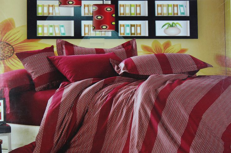Giving your room a charming and sultry appearance is now easier than ever. This maroon colored King Size Bed sheet set of size 275*275cm is a fabulous pick to add to your Bed Linen collection. Made from high quality Cotton fabric is light in weight and easy to maintain. The trendy pattern further makes this bed linen set elegant and perfect for modern home decor.
