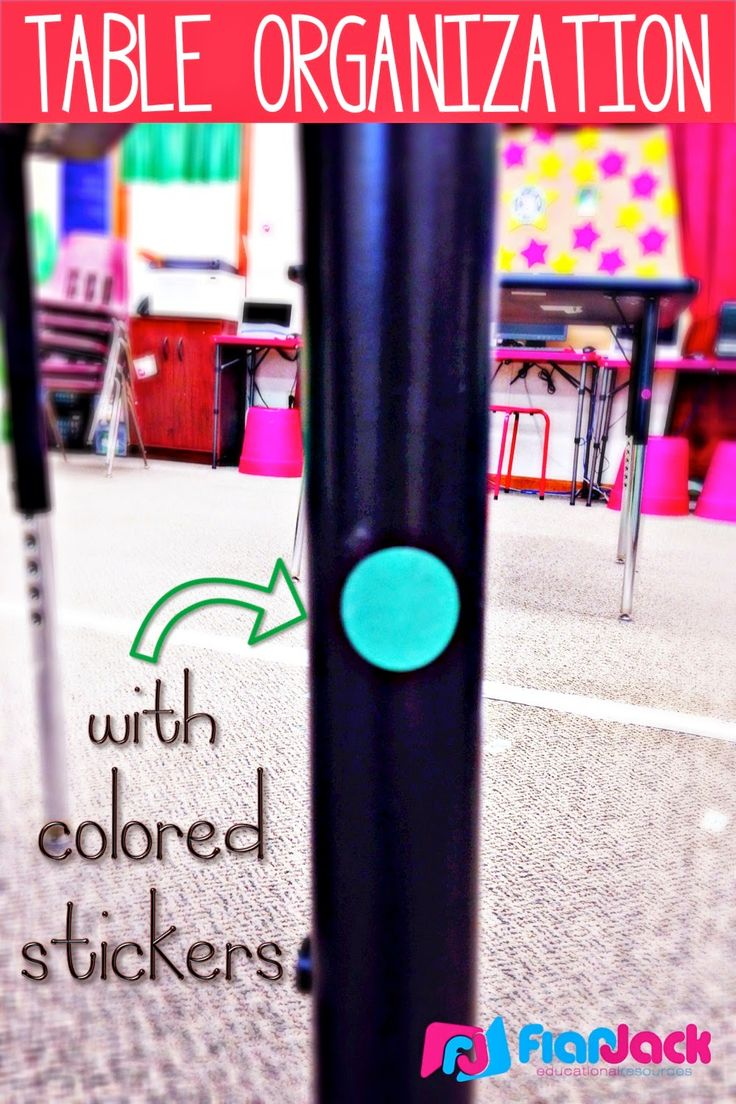 FlapJack Educational Resources: Table Organization with Colored Stickers: A Bright Idea!