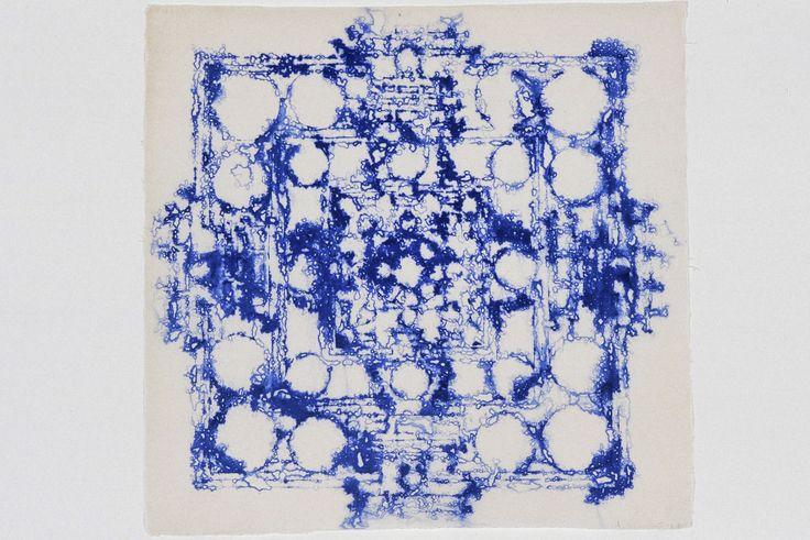 Arlene Shechet, Destination, 2004. Handmade abaca paper. 18 x 18 inches