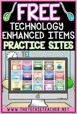 Technology Enhanced Items are appearing on Common Core and state testing. We need to prepare our students with these type of testing items. Come learn about the different types of questions/responses and grab a list of FREE websites you can use for practi