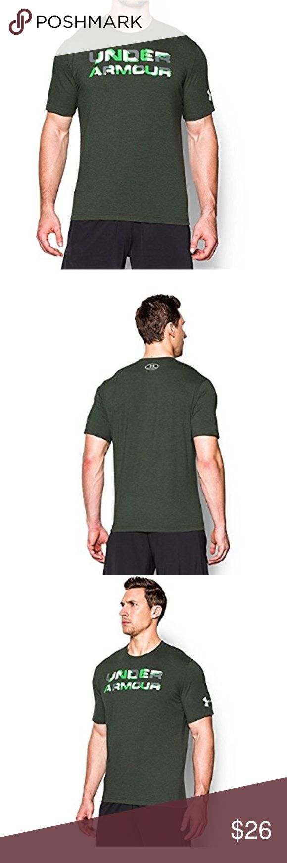 Under Armour Men's UA Stacked Wordmark T-Shirt Under Armour Men's UA Stacked Wordmark T-Shirt Medium COMBAT GREEN Under Armour Shirts Tees - Short Sleeve