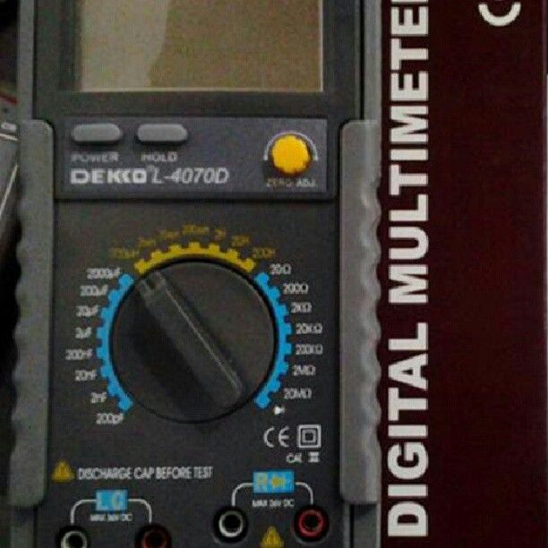 DEKKO 4070D Hand Held LCR Meter  Specifications: 0.1μ H to 200H inductance measurement 0.1pF to 20000μF capacitance measurement 1mΩ to 20MΩ resistance measurement Dissipation factor measurement Zero adjustment Quick responding of measurement - See more at: http://ift.tt/1OFpz28