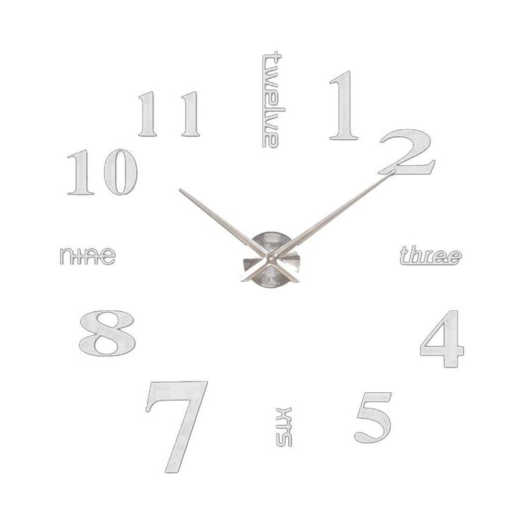Wall Decor: Large Decorative Wall Clock Wood Silent Wall Clock Non Ticking For Living Room And Kitchen Round Vintage Decor from Simple Style With Large Decorative Wall Clocks