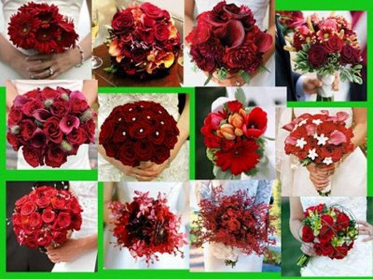 Ramos de novia rojos