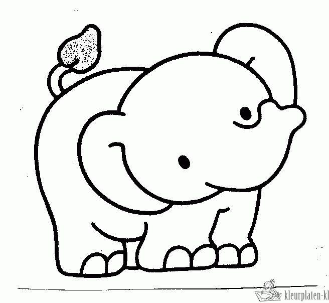 kleurplaat baby olifant zoeken kleurplaten