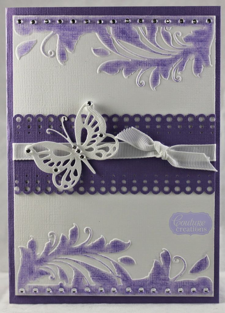 Couture Creations: Chalked & Embossed Card by Lesa Bird | #couturecreationsaus #cards #embossingfolders #decorativedies