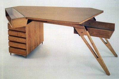 Carlo Mollino arabesco desk table turn singer sons