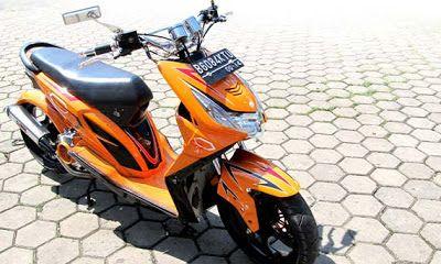 Modifikasi Honda Beat orange keren