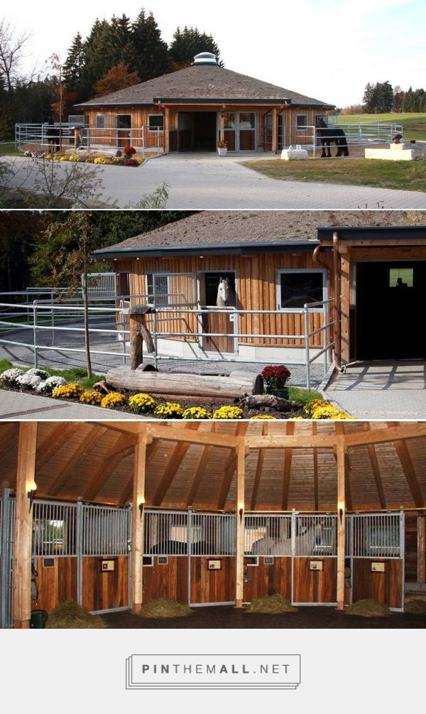 Round stable barn |. Stabling Arrangements Anja Beran - created via pinthemall.net