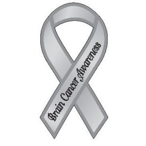 what color is brain cancer ribbon
