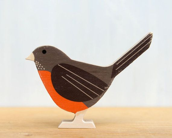 Moderno legno Bird ' Robin ' americano  uccello di StudioLiscious, $23.00