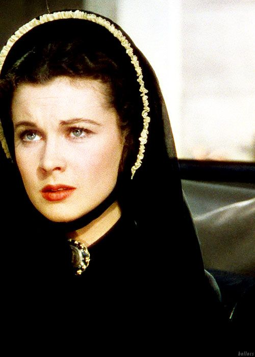 Vivien Leigh as Scarlett O'Hara in GWTW after looking at a list of casualties from the war and seeing both of the Tarleton twins were killed.