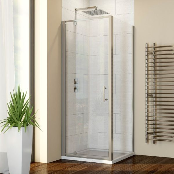 Hydrolux 900mm x 900mm Pivot Shower Enclosure with Side Panel