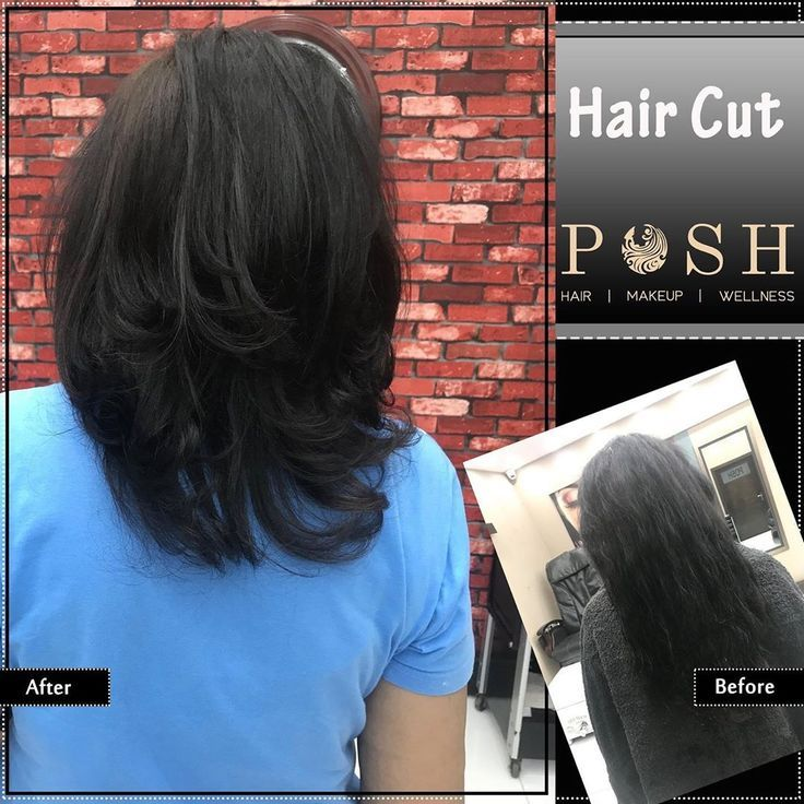 Our gorgeous client needed a short-length haircut with volume for her thin hair so we gave her a graduation cut with short graded layers to create vol