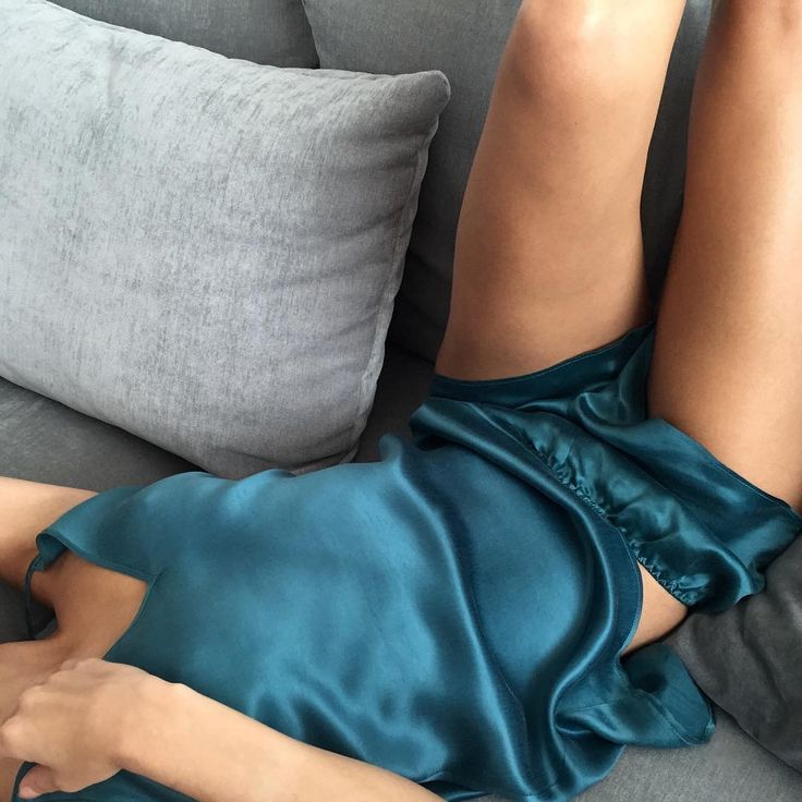 Pajamas all day! Ivy cami & Erin shorts in teal  #teal #satin #cupro #colour #comfort #happiness #relax #stylegram #inspiration #fabric #texture