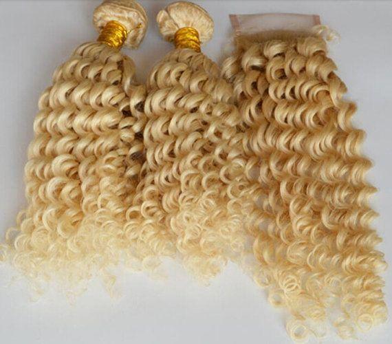 Blonde Huamn Hair Extensions Menschenhaar von BetterBeautyHAIR