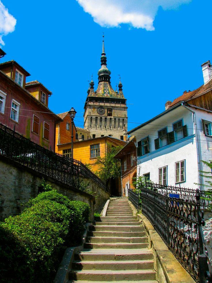 Sighisoara in Transylvania Romania birth place of Vlad Dracula.