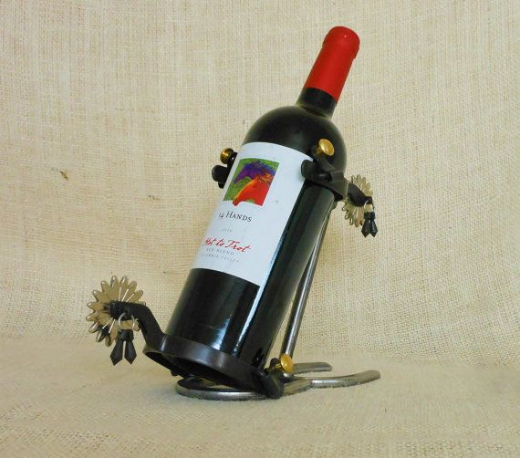 Buckaroo Spur Wine Rack From Bar 18 Creations   Stylish Western Home  Decorating