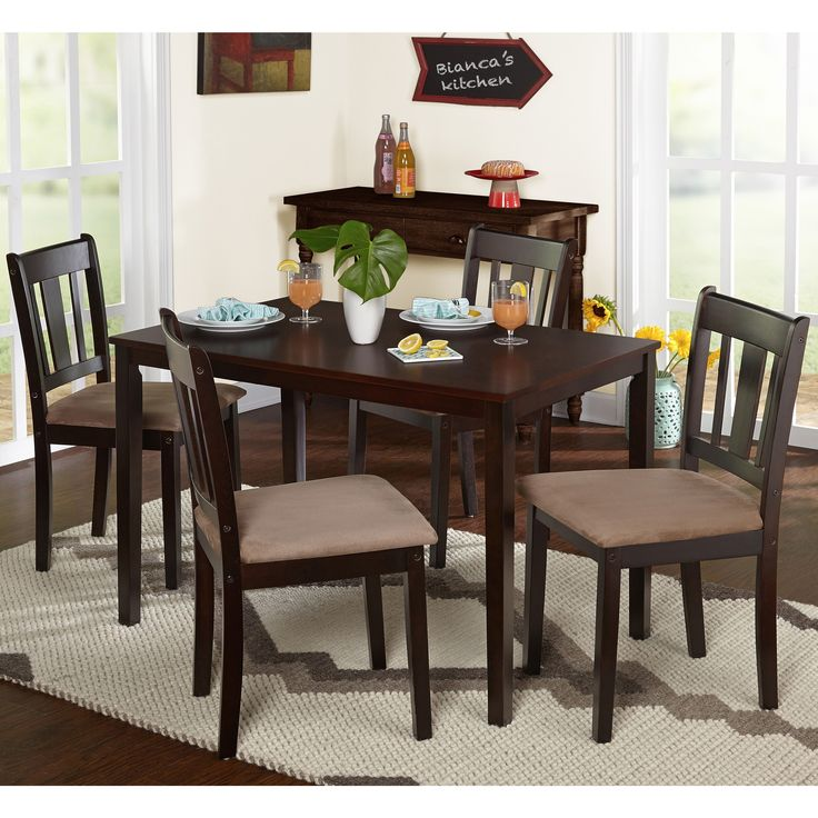 Simple Living Room Furniture Big: This Stratton Dining Set Features A Clean And Simple