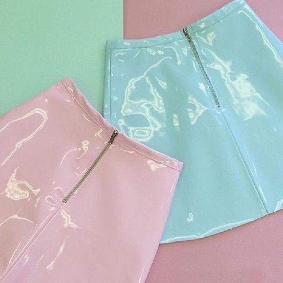 American Apparel Dresses & Skirts - New American Apparel Vinyl Skirts Medium