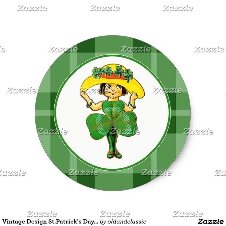 Vintage Design St.Patrick's Day Stickers