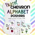 Want to brighten up your classroom? These pastel chevron alphabet posters will do just that. Packet includes full & half-size printable posters plus a picture dictionary for students.
