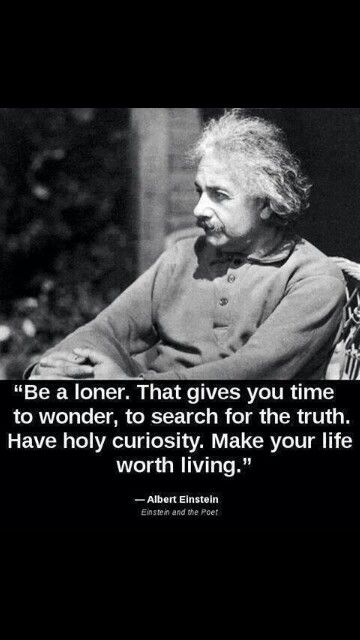 Albery Einstein quotes  Be a loner