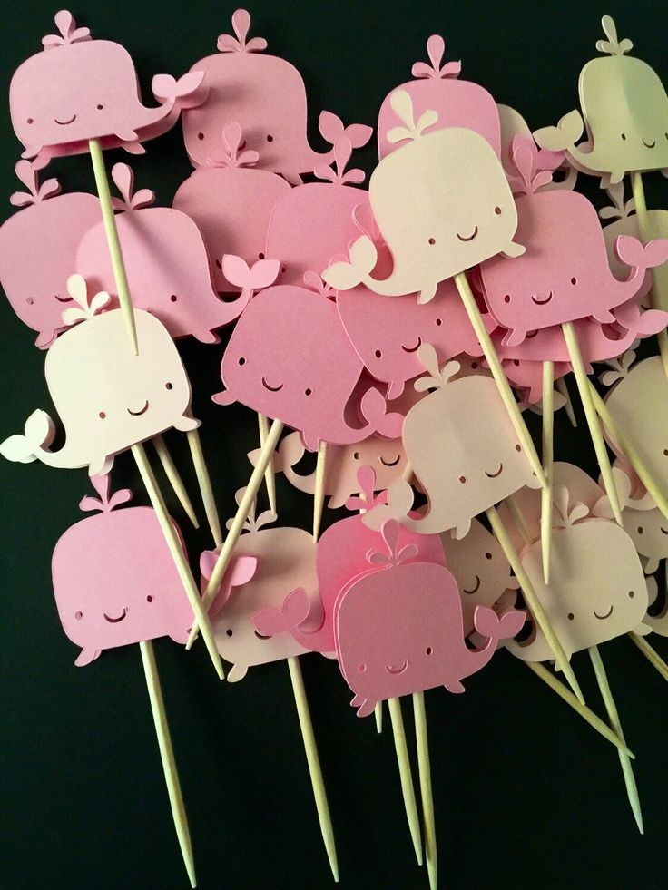 A personal favorite from my Etsy shop https://www.etsy.com/listing/252546918/whale-cupcake-toppers-birthday-baby