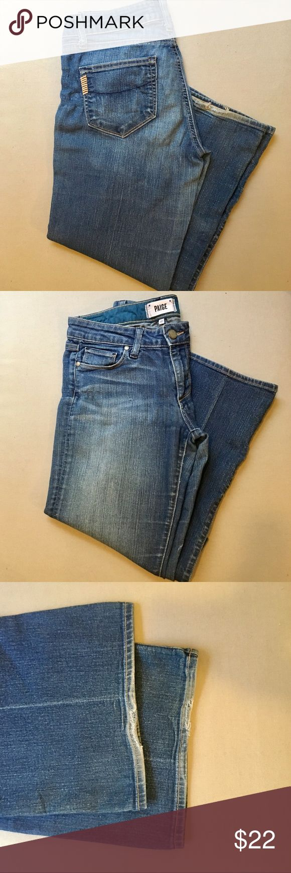 """Paige Jeans Boot Cut Paige Jeans, boot cut (Skyline Boot). Minor wearing and fraying at the bottom.   Brand: Paige Jeans Size: 27 Waist: 15"""" (flat) Length: 42"""" Inseam: 34"""" PAIGE Jeans Boot Cut"""