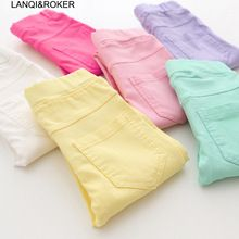 US $4.63 2017 New Spring Summer Children Pants Candy Colors Pencil Girls Pants High Quality Breathable Kids Girl Pants. Aliexpress product