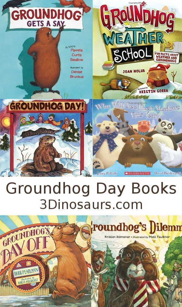 Groundhog Day Books - 6 fun groundhog day books that we like to read