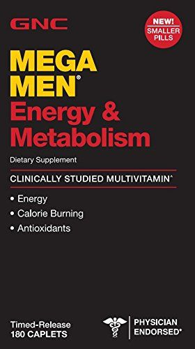 Mega Men® Energy & Metabolism 2X MORE D-3 Dietary Supplement Clinically Studied Multivitamin With 1600 IU of Vitamin D-3 for colon health and immune support ? Boosts energy and metabolism Supports m...
