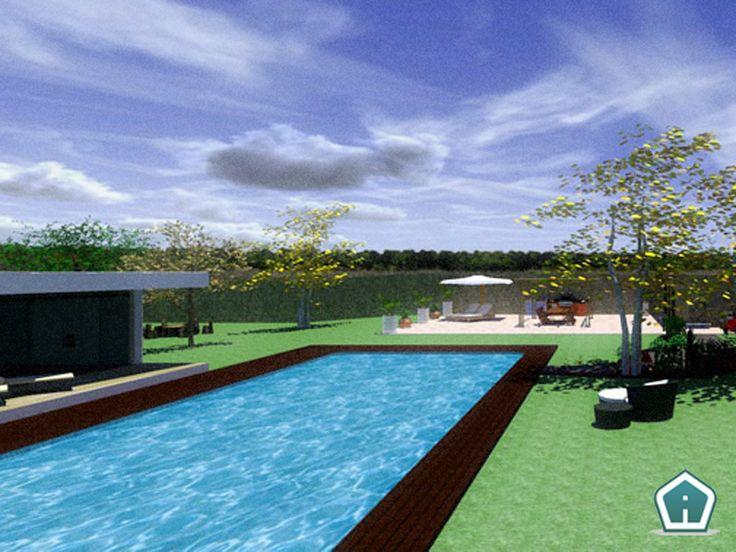 3d Garden Design - design and services: pool exterior rendering