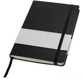 Printed Balmain Office notebook Hardback A5, solid black