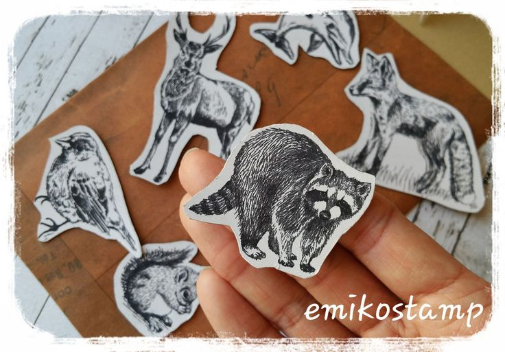 6 Woodland Magnetic Animals Fridge Magnet,Woodland Animal,Stationary,Handmade in Collectables, Magnets | eBay!