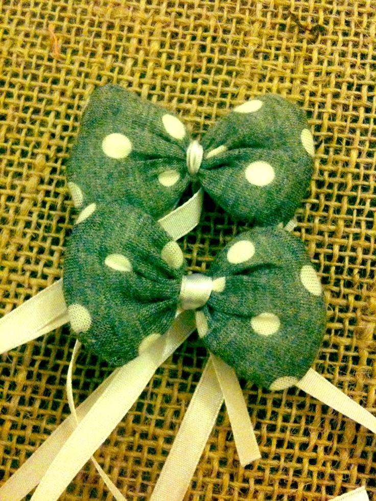 Tiny bows for two baby boys :)