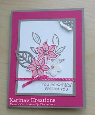 Kreations Karina: Stampin'Up Tomber Fleurs!