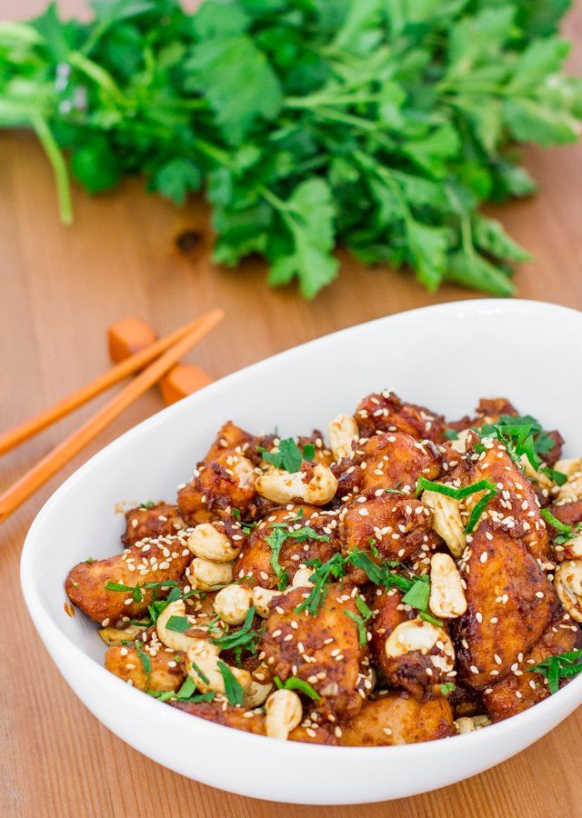 Crockpot Cashew Chicken - forget Chinese takeout, this right here is what you…