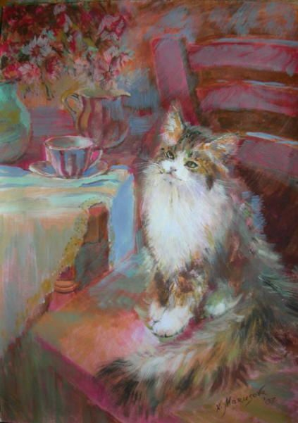 Cat and his Thoughts Marusova Natalya