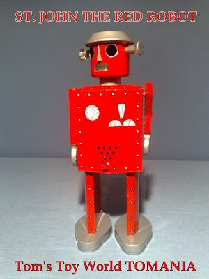 ST. JOHN THE BIG RED ROBOT Tom's Toy World - TOMANIA