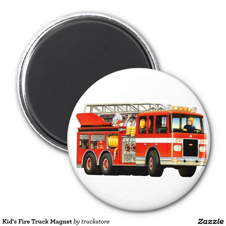 Kid's Fire Truck Magnet