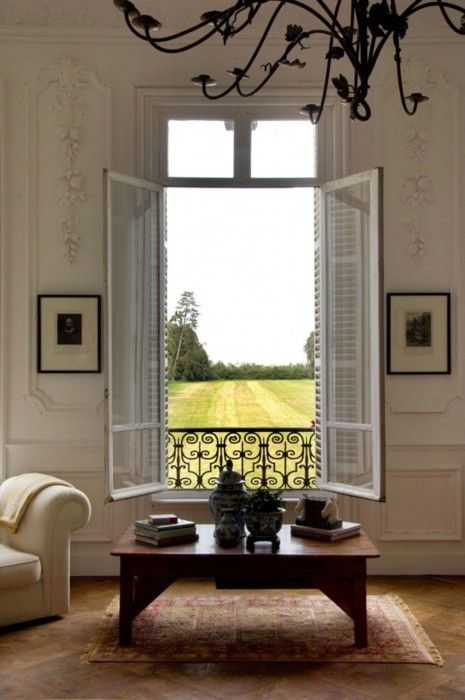 can't decide what I love more: the view, the windows, or the mouldings