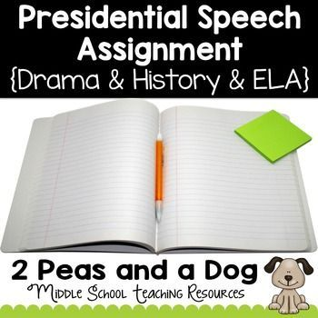 In this Presidential Speech  Assignments students are asked to: select a president of their choice (or teacher's choice), research interesting facts about that president and create a 1-2 minute oral presentation about the president to show to the class. ($)