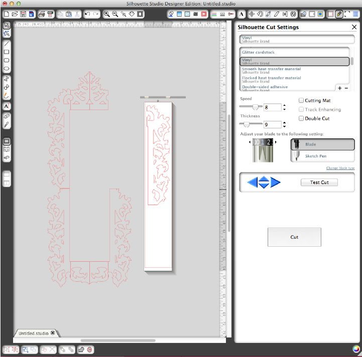 Great tutorial on how to tile designs so that you can make them as large as you want, not the size of your vinyl or mat!  Silhouette Blog