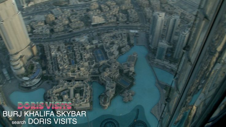 This is like looking down from a plane, but it is not, you are in the Sky Bar…