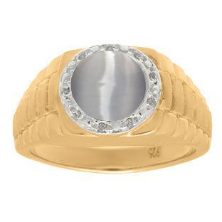 Men's Diamond and Cat's Eye Ring in Yellow Gold Gemologica.com offers a unique, simple selection of handmade fashion, fine statement jewelry for men, woman, kids. Earrings, bracelets, necklaces, pendants, rings, gemstones, diamonds, birthstones in Silver, yellow, rose, white, black gold, titanium, silver metal. Shop @Gemologica jewellery for cool cute design ideas #gemologica Use *coupon* PIN for 10% off at www.gemologica.com now! Gemologica Customer Reviews on Pinterest