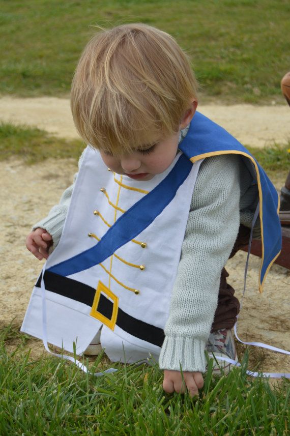 Kid's Prince Charming Dress Up Costume - Fancy dress - Kids - Children - Birthday - Party- Present - Cape - Buttons - Playtime - Cotton: