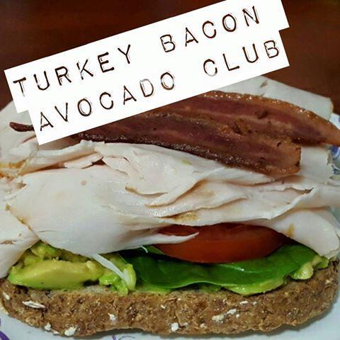 Turkey Bacon Avocado Club Open Face Sandwich - 21 Day Fix Approved