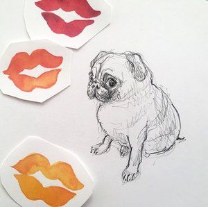 I'm sending everyone a lot of #hugsandkisses I mean #pugsandkisses ;) - Happy early #valentinesday ! . . #pug #dogsofinstagram #xoxo #heart #lovemore #valentines #happyvalentines #sharethelove #thatsdarling #valentine #dslove #dscolor  #kiss #kisses #dogsofinsta #animallove #animallover #doglover #dogs #pugs #ilovedogs #drawingpencil